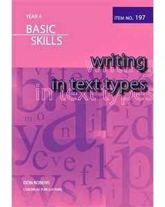 Writing in Text Types Year 4 (item no. 197)